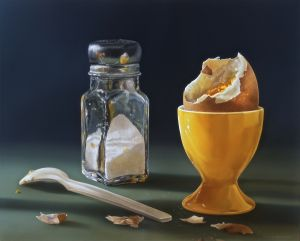 Boiled-Egg,-2009-Delicious Paintings Tjalf Sparnaay