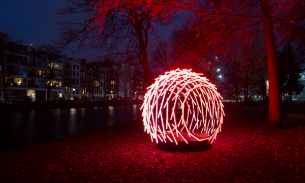 Wandelroute Amsterdam Light Festival geopend
