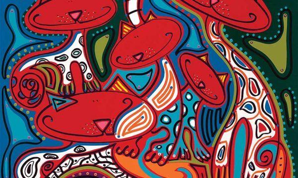 Toyisten dompelen Museum onder in kleur