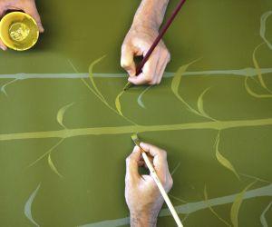 Bamboo handpainted
